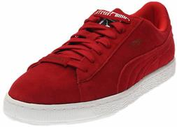 trapstar suede sneakers red mens