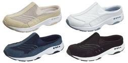 EASY SPIRIT Travel Time Leather Sneaker Clogs, Med, Narrow,