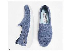 Skechers Ultra Flex Flat Knit Slip On Sneakers Harmonious Na