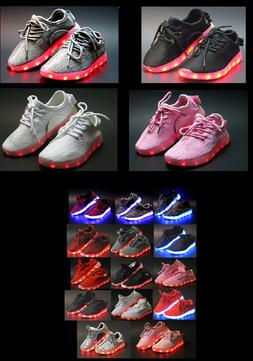 Unisex Light Up LED Shoes Youth Kids Boy Girl And Women's At