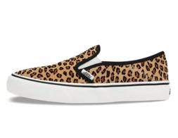 Vans Unisex Slip On Sf Mini Leopard Sneakers, Suede/ Marshma