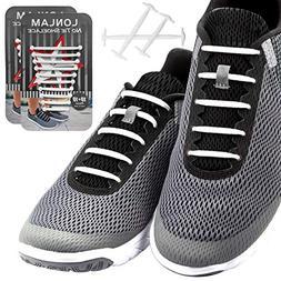 LONLAM  No Tie Shoelaces  Silicone Elastic Bungee Rubber Lac