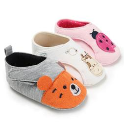 US Baby Girl Boy Kids Soft Sole Crib Shoes Sneakers Cotton S