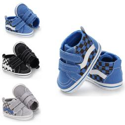 US Toddler Canvas Kids Sneakers Baby Boy Girl Soft Sole Crib