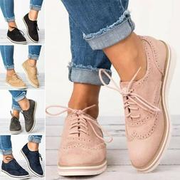 Womens Sneakers Casual Breathable Tennis Trainers Lace Up At