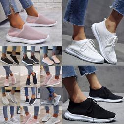 USA Women Breathable Mesh Sports Shoes Casual Knit Outdoor R