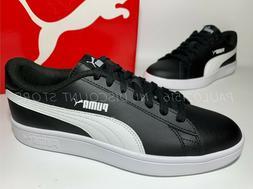 PUMA Smash V2 Leather Perf Sneakers Men's Shoes ~ Black ~ Va