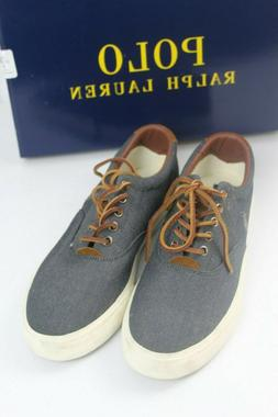 Polo Ralph Lauren Vaughn Chambray Canvas Fashion Sneakers 10