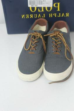 Polo Ralph Lauren Vaughn Chambray Canvas Fashion Sneakers 10