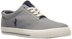 Polo Ralph Lauren Men's Vaughn-Colored Denim Sneaker, Grey,