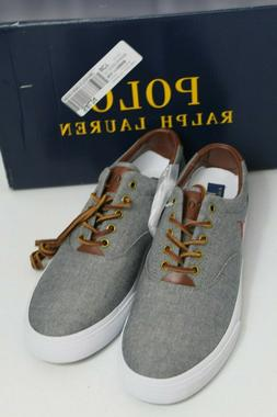 Polo Ralph Lauren Vaughn Grey Chambray Canvas Fashion Sneake
