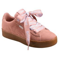 Puma Vikky Platform Ribbon Bold Ladies Sneaker Shoes 365314