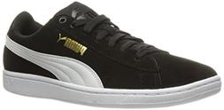 PUMA Women's Vikky Sfoam Fashion Sneaker, Black White, 8.5 M