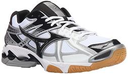 Mizuno Men's Wave Bolt 4 WH-BK Volleyball Shoe, White/Black,