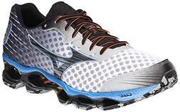 Mizuno Men's Wave Prophecy 4 Running Shoe,White/Black,7 D US