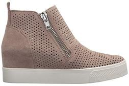 Huiyuzhi Women's Wedge Heels Platform Fashion Sneakers Zippe