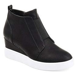 Huiyuzhi Womens Wedges Fashion Sneakers Strap High Top Close