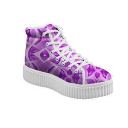 Woman Sport Shoes 4cm White Platform High Top Sneakers Flat