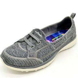 Skechers Woman TopNotch Slip On Sneaker Sz 7 Gray Memory Foa