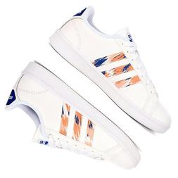 Women Adidas CloudFoam ADVANTAGE White Leather Sneakers NEW