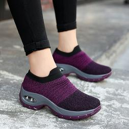 Women Fashion Air Cushion Sneakers Breathable Mesh Walking S