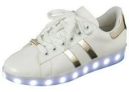 Women Fashion Led Sneakers 7 Colors Flashing Rechargeable Li