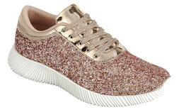 Women Fashion Ultra Light Weight Glitter Sneakers Shoes High