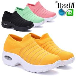 Women's Air Cushion Sneakers Fly knit Fitness Athletic Sport