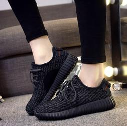Women's black Athletic Sneakers Easy Walking Casual Running