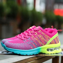 Women's Breathable Trainers Casual Sport Running Sneakers Te