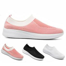 Women's Casual Walking Shoes Sport Slip-On Running Tennis Sn