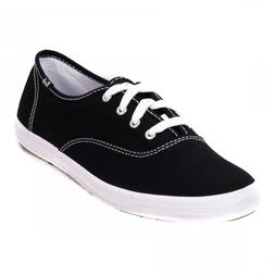 Women's KEDS CHAMPION WF34100 Black Canvas Athletic Comfort