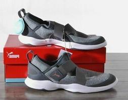 Puma Women's Dare AC Mesh Slip-On Sneakers Grey/rose gold Sz
