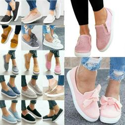 Women's Flats Sneakers Slip On Loafers Casual Comfy Trainers