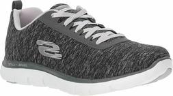 Skechers Women's Flex Appeal 2.0 Fashion Sneaker, black ligh