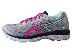 Women's ASICS Gel KAYANO 23 Runnng Shoes T696N Silver Athlet