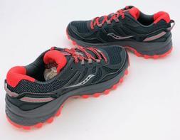 SAUCONY Women's Grid Excursion TR11 Grey Vizi Red Sneakers T