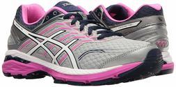 ASICS Women's Gt-2000 5 Gray White Pink Glow Running Shoe Sn