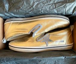 Golden Goose Women's Hanami Gold Canvas Slip On Sneakers Dis