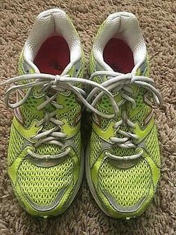 WOMEN'S NEW BALANCE LIME GREEN MESH WALKING RUNNING SNEAKERS