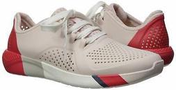 Crocs Women's LiteRide Colorblock Pacer Sneaker, Barely Pink
