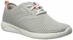Crocs Women's Literide Mesh Lace-up Sneaker Pearl Light Grey