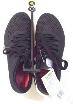 Crocs Women's LiteRide Pacer Sneakers Shoes Black Size 6