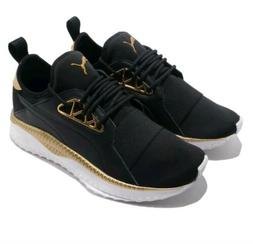 Women's Size 6 PUMA Tsugi Apex Jewel Black Gold Fashion Snea