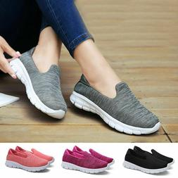 Women's Slip On Shoes Casual Mesh Walking Sneakers Comfortab