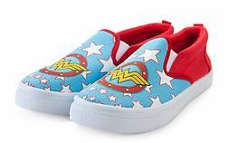 Women's Slip On Sneakers - Wonder Woman, Small
