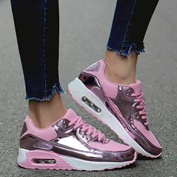 Women's Tennis Shoes Sneakers Bling Sequin Walking Training