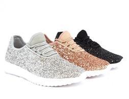 Women Sequin Glitter Sneakers Tennis Lightweight Comfort Wal