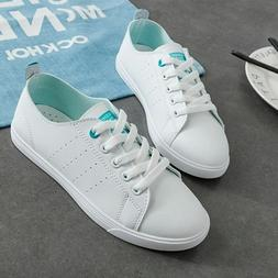 Women Sneakers Casual Shoes Flats Fashion Lace Up Fabric Adu
