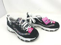 Womens Skechers  D'LITES INTERLUDE black/Multi wide sneakers